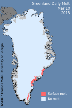 Greenland Melt March