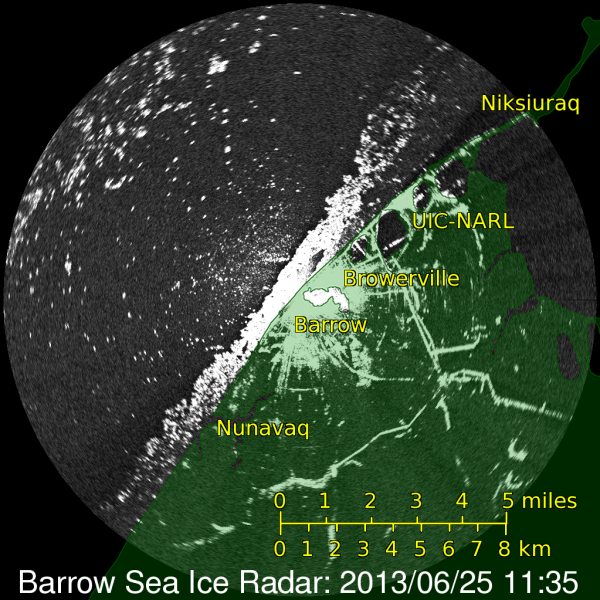 Barrow Ice Radar June 25