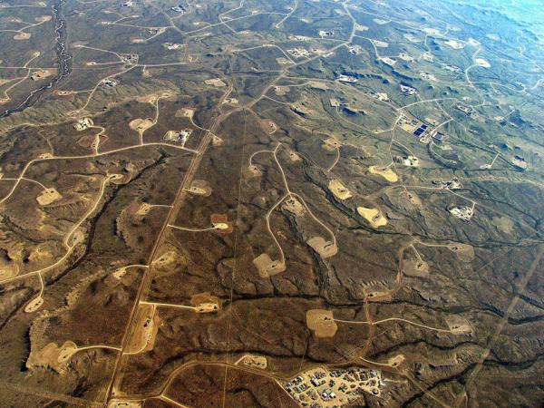 Fracking in Pinedale