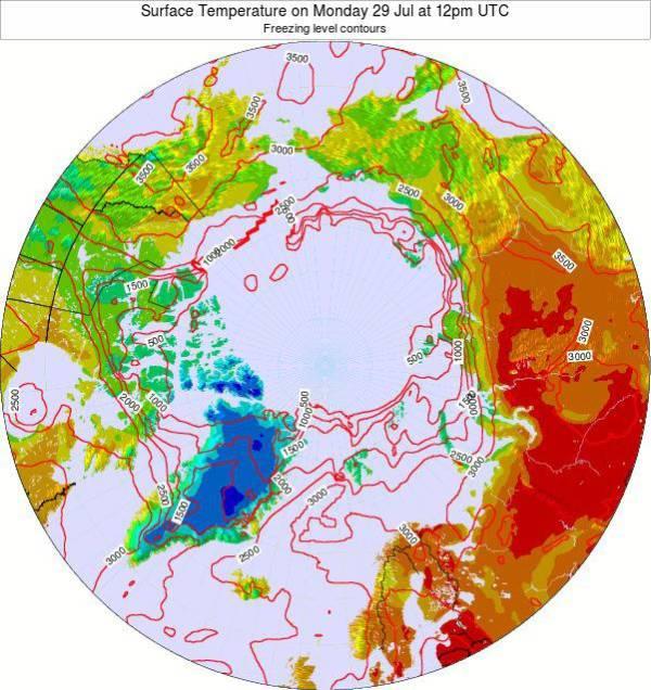 Arctic temperatures, Daytime, Siberia