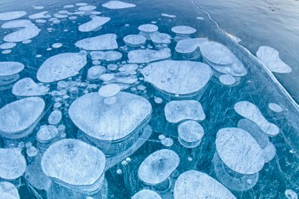Bubbles of Methane Locked in Sea Ice