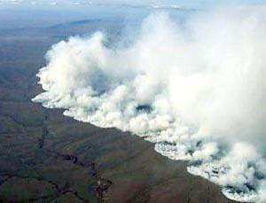 Massive tundra fires Alaska