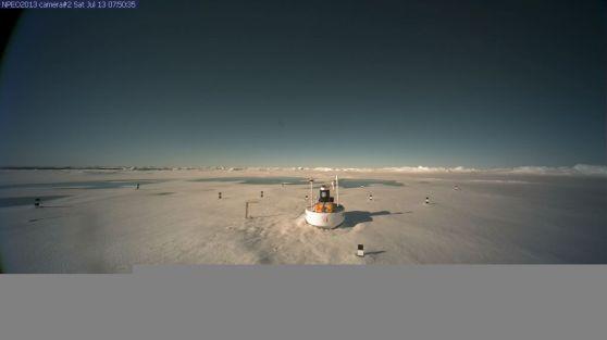 Melt Puddles North Pole Camera 2