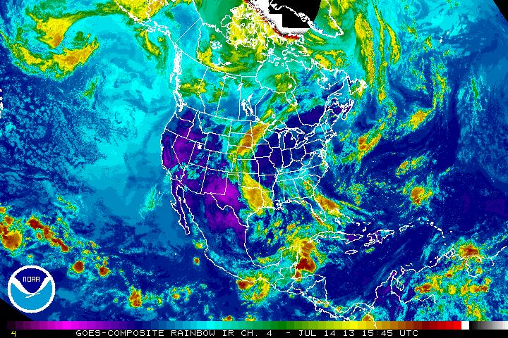 Jet Stream Over Us So Weak Weather Systems Are Moving Backwards