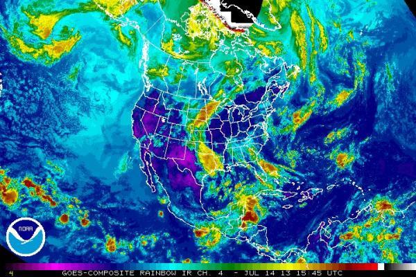 NOAA Weather Moving Backwards