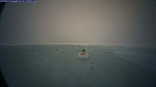 North Pole Camera 2 immersed in Melt Lake