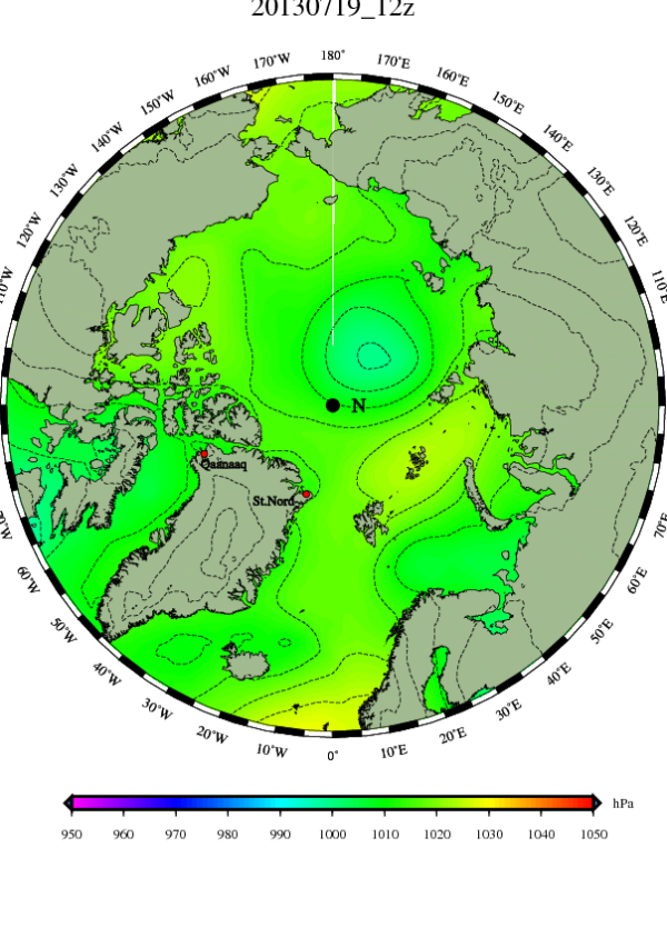 It's back. New Persistent Arctic Cyclone forms over Laptev Sea.