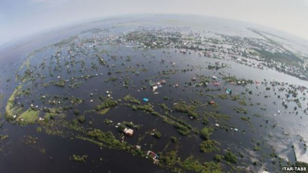 Floods turn Amur Region of Russia into a Sea on August 14.