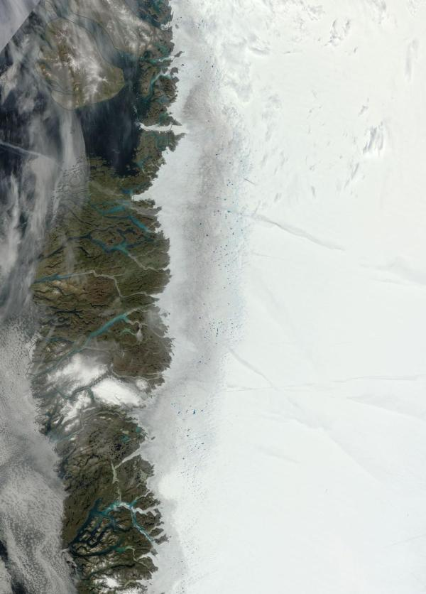Greenland west coast melt, August 4.