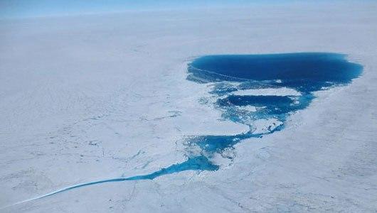 Large Melt Lake, Greenland