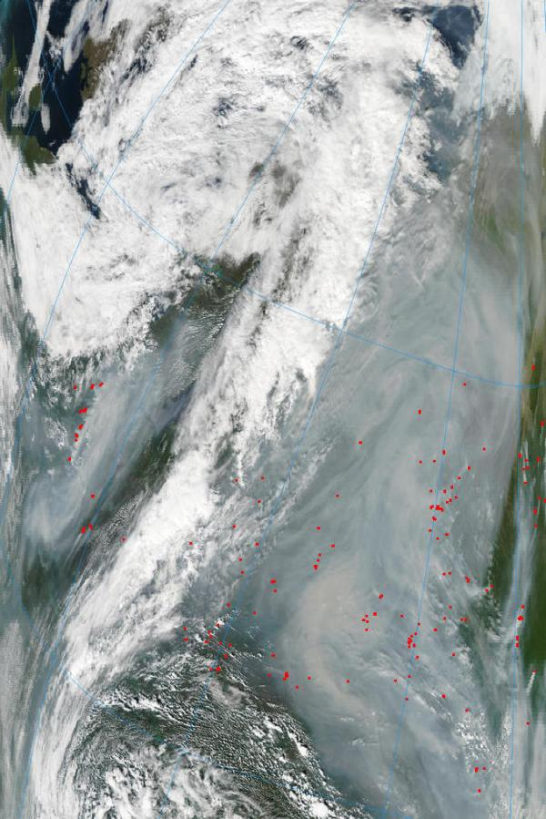 Russian Sea of Smoke and Fire West on August 4, 2013.