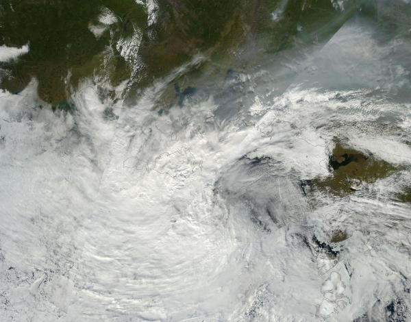 Smokey Arctic Cyclone on August 6, 2013