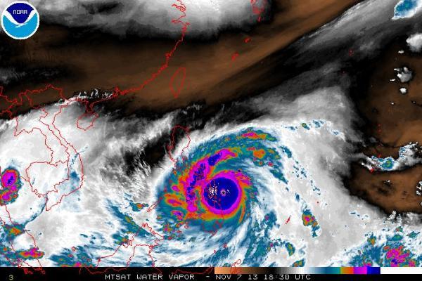Haiyan Barrels in 2