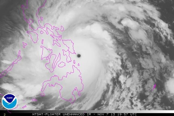 Haiyan over Guiuan
