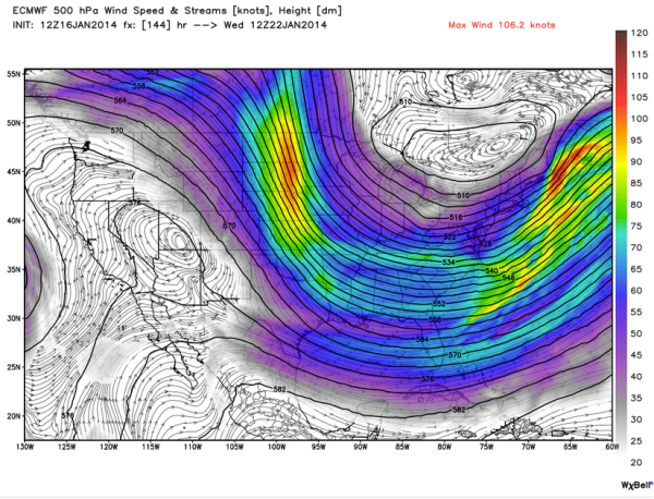 Jet Stream Flow January 22