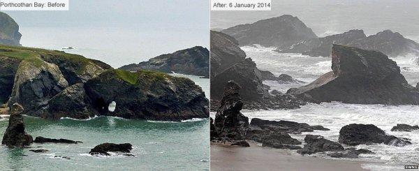 Storms Reshape England's Coastline