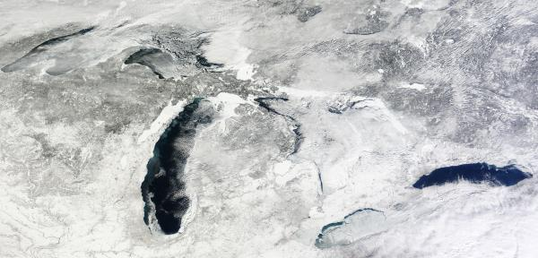Great Lakes with Substantial Portion still ice-free