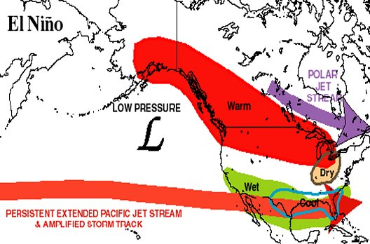 Flattened Jet Stream Aims Storm Track at West Coast