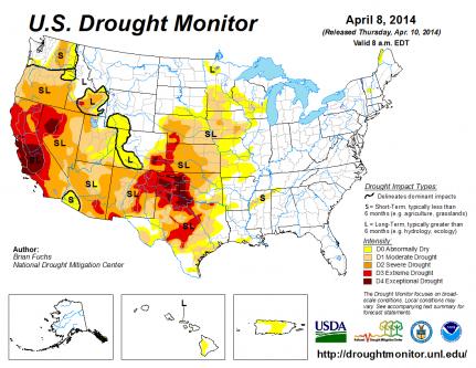 Drought Robertscribbler - Argentina drought map