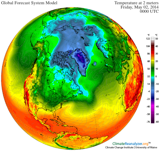Arctic Heatwave Friday May 2