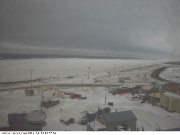 Barrow Sea ice break-up late April