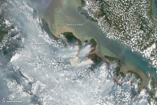 Fires Malacca Strait 2014
