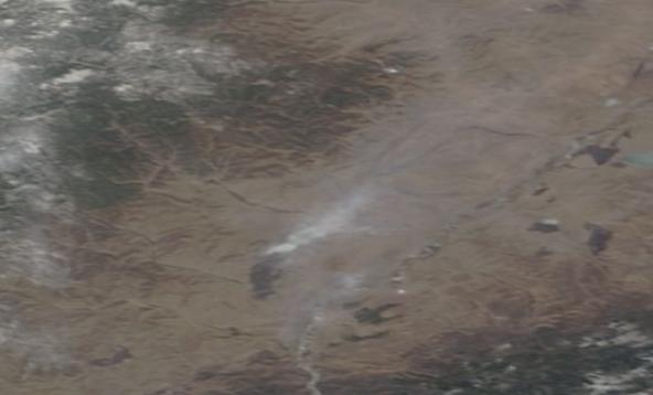 Isolated Siberian Wildfire April 4