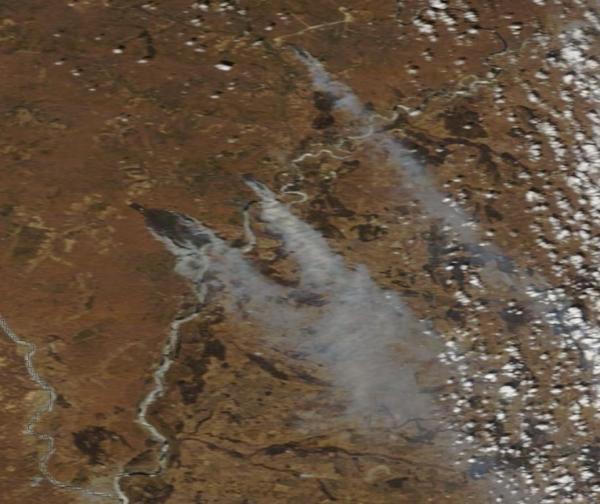 Large burn scars Amur