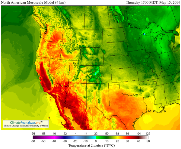 California Heatwave May 15