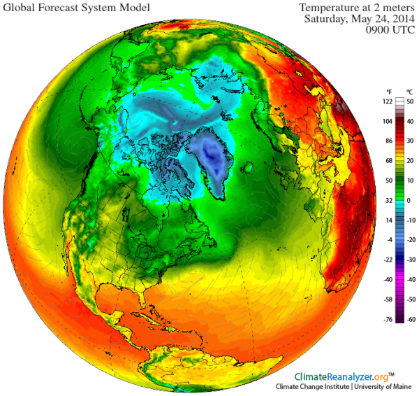 Dual Arctic Heat Waves