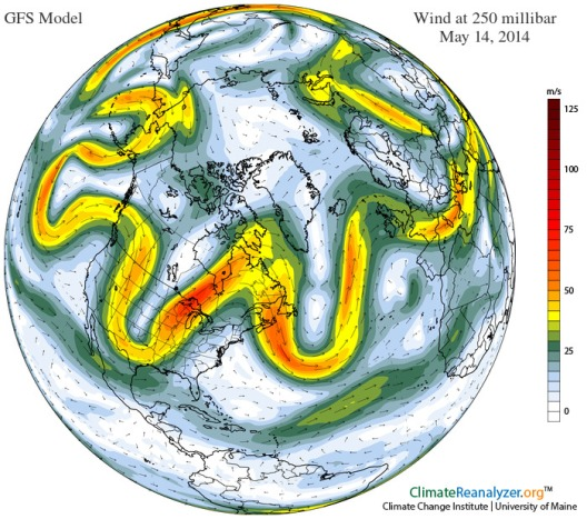 Mangled Jet Stream May 14