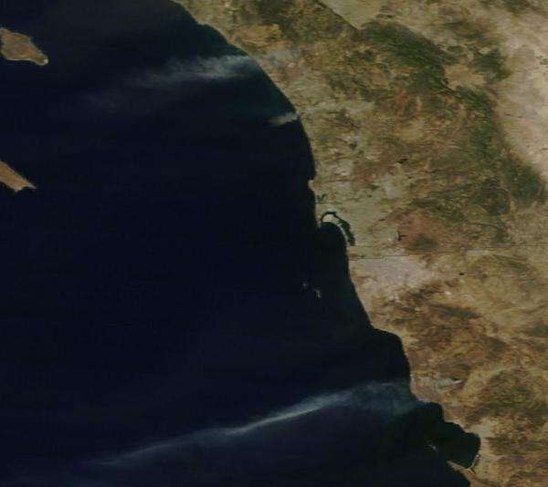 MODIS Shot of Fires buring in California