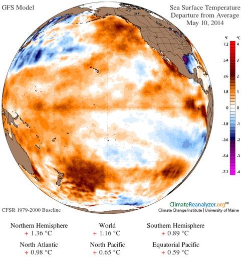 Ocean heat anomaly May 10 2014