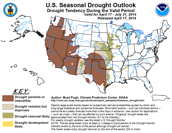 US Seasonal Drought Outlook