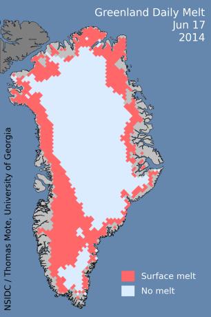 Greenland melt June 17 2014