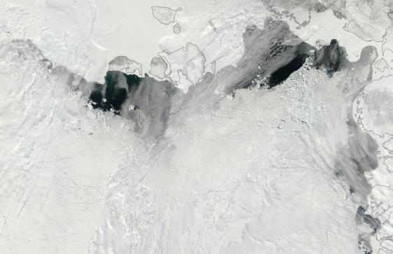 Laptev and East Siberian Sea Ice June 3