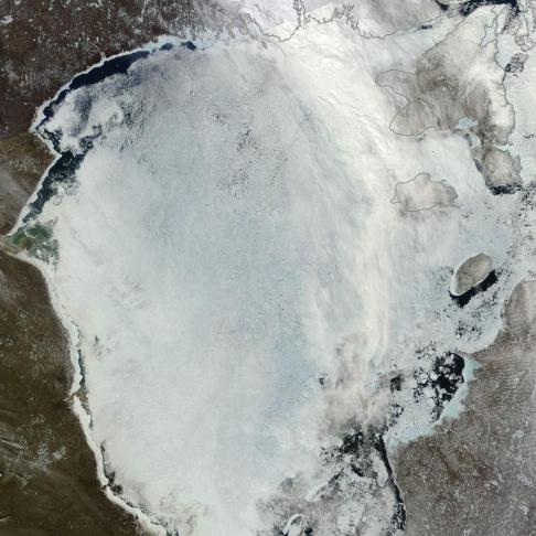 Melt Ponds over Hudson Bay June 2 2014