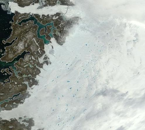 West Greenland Melt Ponds June 18