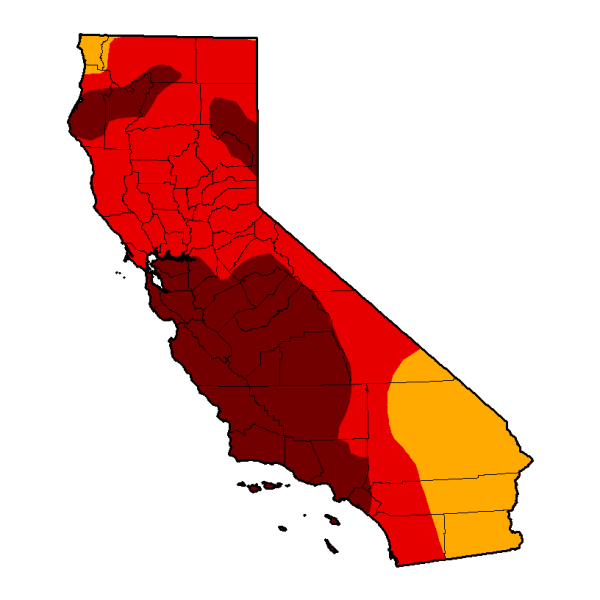 California drought Map July 17