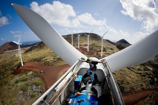 GE Wind Turbine with Battery Back-up