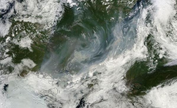 Sea of Smoke and Fire From Lake Baikal to Arctic Ocean