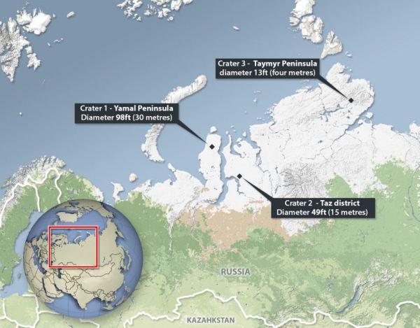 Siberian Craters Map