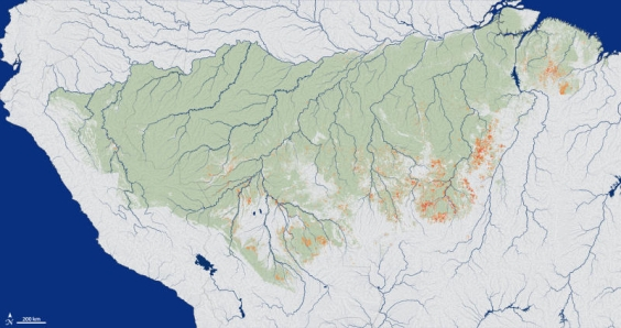 12 million square miles of Amazon burned