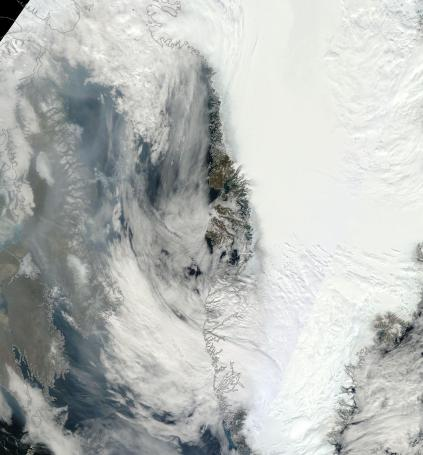 Smoke From Canadian Wildfires Near Greenland