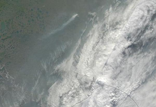 Wildfire burning near Laptev Sea August 1, 2014