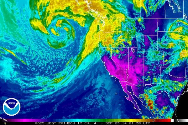 Strong Storm Approaches the Western US