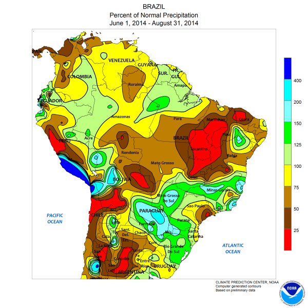 Drought Map South America