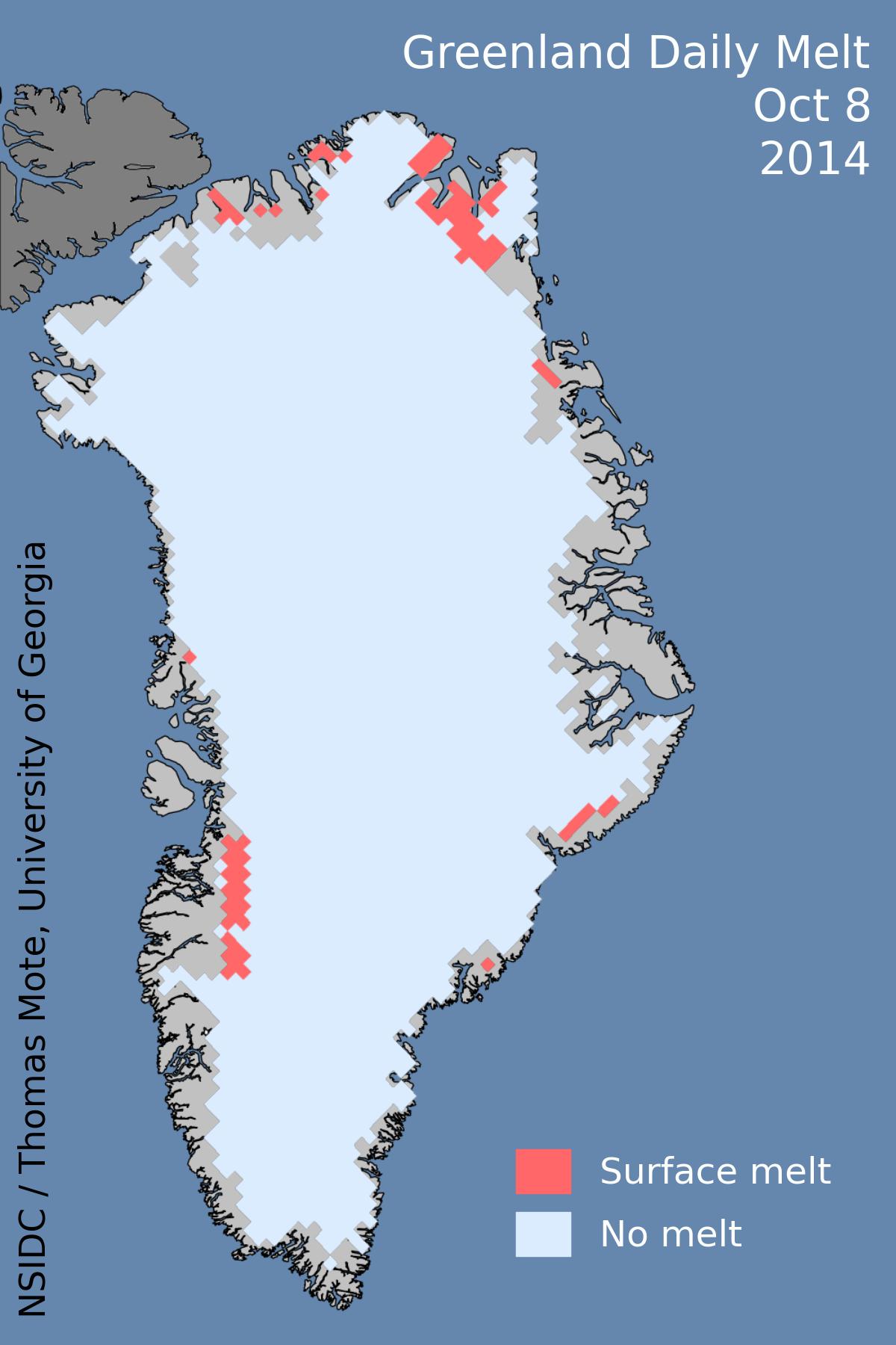 Greenland melting in October | robertscribbler