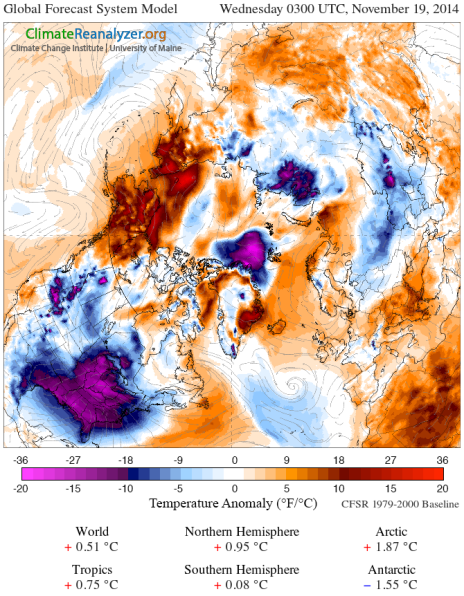 Arctic Anomaly Map