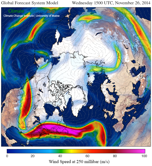 Mangled Jet Stream Thanksgiving